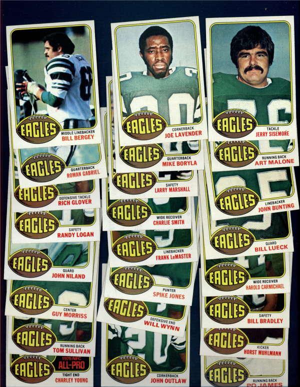 1976 Topps Football Lot of 24Philadelphia Eagles SHARP