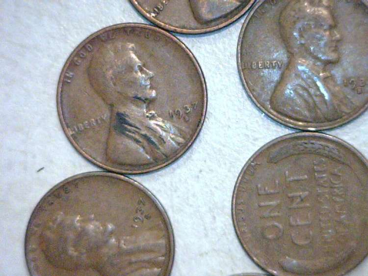 Roll of 50 FIFTY 1937 S Lincoln Cents VG and Maybe Better