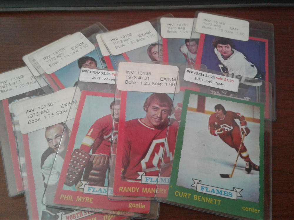 Lot of 11 1973 O-Pee-Chee Hockey Singles Overall Nice Condition