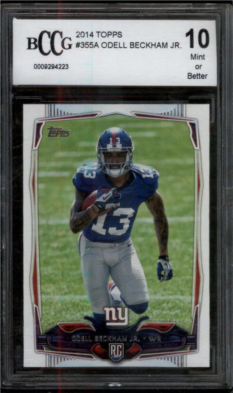 2014 Topps #355 Odell Beckham Jr. BCCG 10 Mint or Better RC Rookie New York Giants