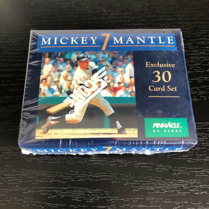 1992 Score Pinnacle MICKEY MANTLE '7' Complete Set Sealed 30 Cards