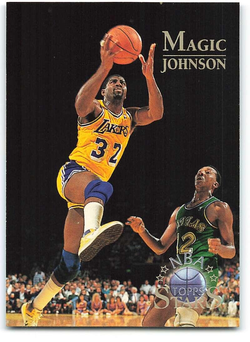 1996-97 Topps Stars #22 Magic Johnson NM-MT Los Angeles Lakers Basketball