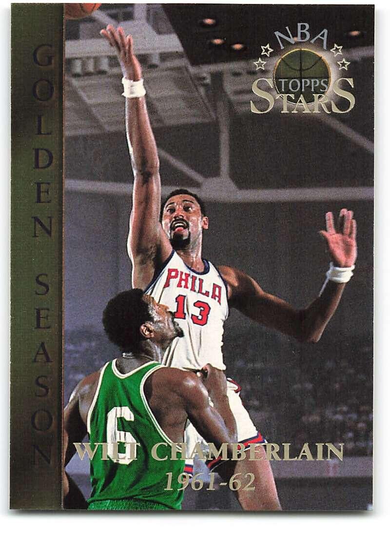 1996-97 Topps Stars #59 Wilt Chamberlain GS NM-MT Philadelphia Warriors Basketball