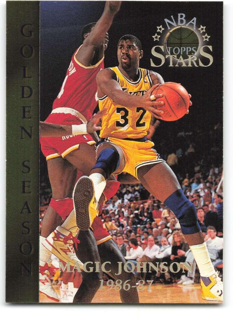 1996-97 Topps Stars #72 Magic Johnson GS NM-MT Los Angeles Lakers Basketball