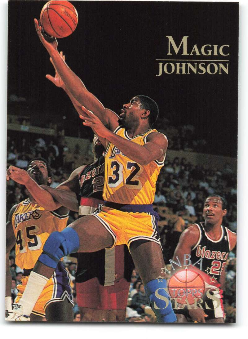 1996-97 Topps Stars #122 Magic Johnson NM-MT Los Angeles Lakers Basketball