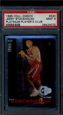 1995 Collector's Choice Player's Club Platinum  #220 Jerry Stackhouse   PSA 9 1 of 2..one higher
