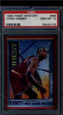 1995 Finest Mystery  #M8 Chris Webber   PSA 10 1 of 4!!