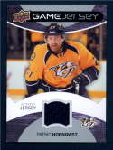 2012 Upper Deck Game Jerseys  #GJPH Patric Hornqvist H