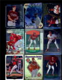 Lot of 9 Pat Burrell Rookies and Inserts 1999 to 2000