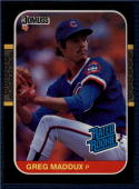 1987 Donruss #36 Greg Maddux NM-MT RC Rookie Cubs