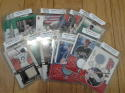 Lot of 16 Game Used Baseball Cards from 2002 - Sweet Spot, Flair