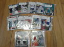Lot of 12 Game Used Memorablia Cards All Sports 2006 to 2010