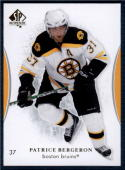 2007-08 SP Authentic #7 Patrice Bergeron NM-MT Bruins