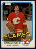 1981-82 O-Pee-Chee #44 Reggie Lemelin NM++ RC Rookie Flames