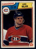 1983-84 O-Pee-Chee #194 Chris Nilan NM-MT RC Rookie Canadiens