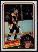 1984-85 O-Pee-Chee #327 Cam Neely NM-MT RC Rookie Canucks Centered