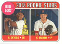 LOT OF 3 2018 Topps Heritage #189 Kyle Martin/Rafael Devers NM-MT RC Rookie Red Sox