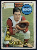 1969 Topps #95 Johnny Bench Reds G/VG Good/Very Good Indents on Card. Very Presentable.