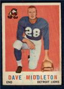 1959 Topps #113 Dave Middleton UER EX Excellent