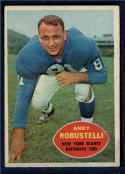 1960 Topps #81 Andy Robustelli F Fair Creased