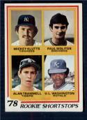 1978 Topps #707 Mickey Klutts/Paul Molitor/Alan Trammell/U.L. Washington Rookie Shortstops EX/NM RC Rookie New York Yankees/Milwaukee Brewers/Detroit