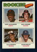 1977 Topps #476 Gary Alexander/Rick Cerone/Dale Murphy/Kevin Pasley Rookie Catchers NM-MT RC Rookie San Francisco Giants/Cleveland Indians/Atlanta Bra