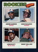 1977 Topps #473 Andre Dawson/Gene Richards/John Scott/Denny Walling Rookie Outfielders EX/NM RC Rookie Montreal Expos/San Diego Padres/Toronto Blue Ja