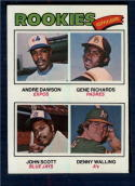 1977 Topps #473 Andre Dawson/Gene Richards/John Scott/Denny Walling Rookie Outfielders NM+ RC Rookie Montreal Expos/San Diego Padres/Toronto Blue Jays