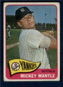 1965 Topps #350 Mickey Mantle G/VG Good/Very Good New York Yankees Centered No Creases Lite Scratches