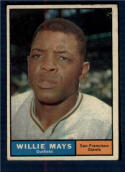 1961 Topps #150 Willie Mays G/VG Good/Very Good San Francisco Giants Scuffed