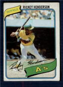 1980 Topps #482 Rickey Henderson UER G/VG Good/Very Good RC Rookie Oakland Athletics Light Crease